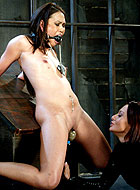 Lesbian Veronica Lynn gets first BDSM experience with Sandra Romain