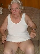 very old granny fingering herself