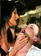 Lesbian slave Dana DeArmond gets harsh humilation and domination