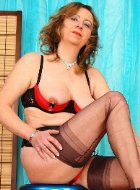Hottest mature in stockings and lingerie posing